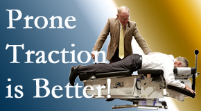 Montreal spinal traction applied lying face down – prone – is best according to the latest research. Visit Dr. Hoang's Chiropractic Clinic.