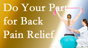 Dr. Hoang's Chiropractic Clinic calls on back pain sufferers to participate in their own back pain relief recovery.