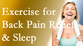 Dr. Hoang's Chiropractic Clinic shares recent research about the benefit of exercise for back pain relief and sleep.