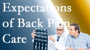 The pain relief expectations of Montreal back pain patients influence their satisfaction with chiropractic care. What is realistic?
