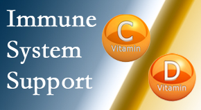 Dr. Hoang's Chiropractic Clinic presents details about the benefits of vitamins C and D for the immune system to fight infection.