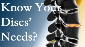 Your Montreal chiropractor knows all about spinal discs and what they need nutritionally. Do you?