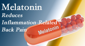 Dr. Hoang's Chiropractic Clinic shares new findings that melatonin interrupts the inflammatory process in disc degeneration that causes back pain.