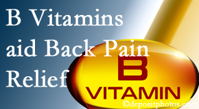 Dr. Hoang's Chiropractic Clinic may include B vitamins in the Montreal chiropractic treatment plan of back pain sufferers.