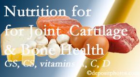 Dr. Hoang's Chiropractic Clinic describes the benefits of vitamins A, C, and D as well as glucosamine and chondroitin sulfate for cartilage, joint and bone health.
