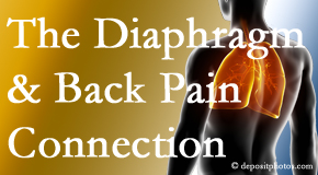 Dr. Hoang's Chiropractic Clinic knows the relationship of the diaphragm to the body and spine and back pain.