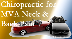 Dr. Hoang's Chiropractic Clinic provides gentle relieving Cox Technic to help heal neck pain after an MVA car accident.