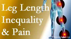 Dr. Hoang's Chiropractic Clinic tests for leg length inequality as it is related to back, hip and knee pain issues.