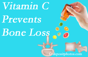 Dr. Hoang's Chiropractic Clinic may suggest vitamin C to patients at risk of bone loss as it helps prevent bone loss.