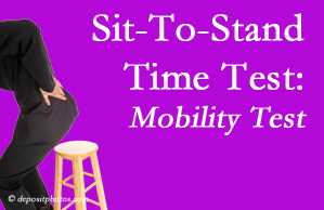 Montreal chiropractic patients are encouraged to check their mobility via the sit-to-stand test…and increase mobility by doing it!