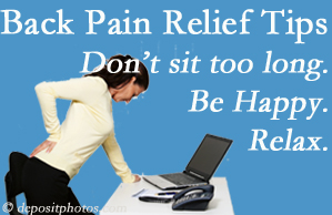 Dr. Hoang's Chiropractic Clinic reminds you to not sit too long to keep back pain at bay!