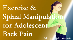 Dr. Hoang's Chiropractic Clinic uses Montreal chiropractic and exercise to relieve back pain in adolescents.