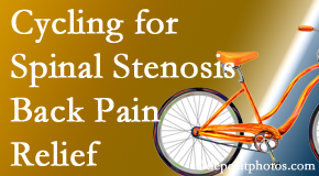 Dr. Hoang's Chiropractic Clinic encourages exercise like cycling for back pain relief from lumbar spine stenosis.