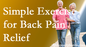 Dr. Hoang's Chiropractic Clinic suggests simple exercise as part of the Montreal chiropractic back pain relief plan.