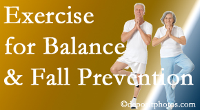 Montreal chiropractic care of balance for fall prevention involves stabilizing and proprioceptive exercise.