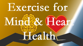 A healthy heart helps maintain a healthy mind, so Dr. Hoang's Chiropractic Clinic encourages exercise.