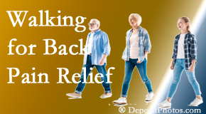 Dr. Hoang's Chiropractic Clinic often recommends walking for Montreal back pain sufferers.