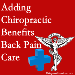 Added Montreal chiropractic to back pain care plans works for back pain sufferers.