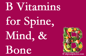Montreal bone, spine and mind benefit from B vitamin intake and exercise.