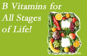 Dr. Hoang's Chiropractic Clinic urges a check of your B vitamin status for overall health throughout life.