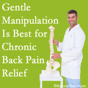 Gentle Montreal chiropractic treatment of chronic low back pain is superior.