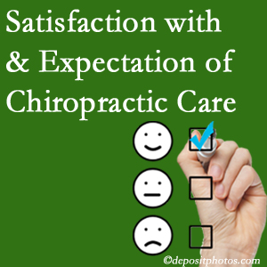Montreal chiropractic care delivers patient satisfaction and meets patient expectations of pain relief.