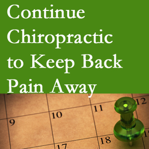 Continued Montreal chiropractic care helps keep back pain away.