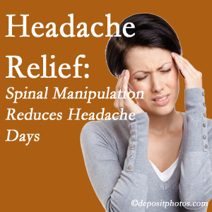 Montreal chiropractic care at Dr. Hoang's Chiropractic Clinic may reduce headache days each month.